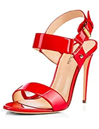 Elegant high shoes Chaussures à Talons Hauts Femelle Femme en Dentelle Ceinture en Forme de Sandales Taille, 1, 38