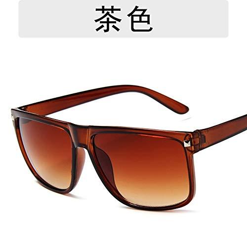 Sonnenbrille Männer Fashion Retro Square Polarized Driving Sunglasses Designer Leichte Komfort Sommer Uv400 Outdoor Reisen Sport Braun