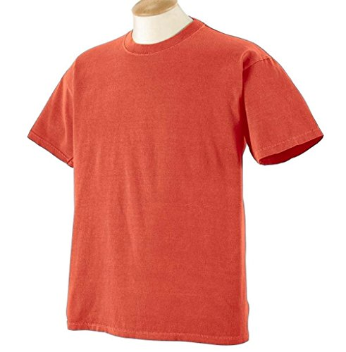 Gelber Fu§ball auf American Apparel Fine Jersey Shirt Rot