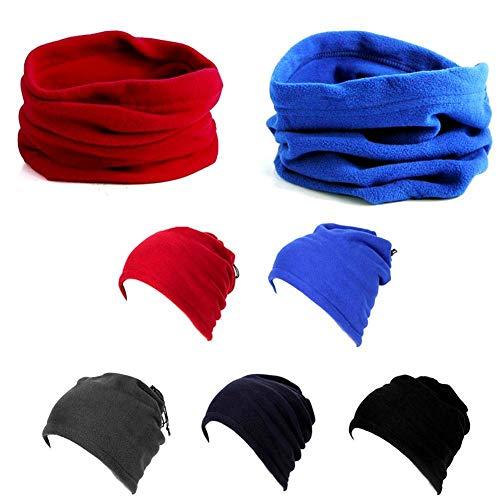 Berretti unisex berretti da sci scialle da sci sciarpe multifunzionali donna uomo sciarpe in pile termiche scaldacollo a snodo scaldacollo maschera antivento inverno lavoro esterno corsa ciclismo