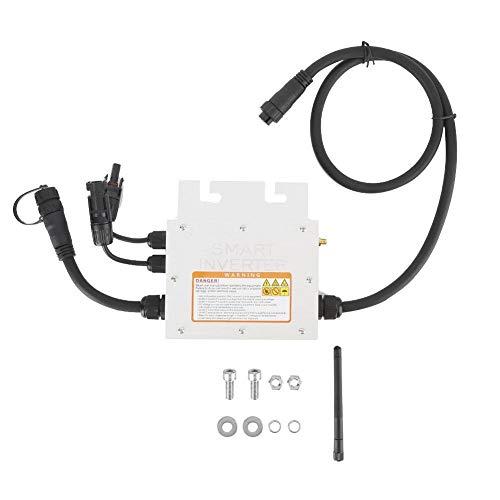 Grid Tie Micro Solar Wechselrichter, 200W MPPT Solar Micro Wechselrichter Grid Tie Wechselrichter 18-50VDC bis 120/230VAC IP65 wasserdicht(120V) -