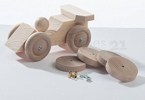 matches21 Holz Fahrzeug Auto Bausatz Holzbausatz Werkset Bastelset Konzeptbausatz für Kinder ab 8 Jahren