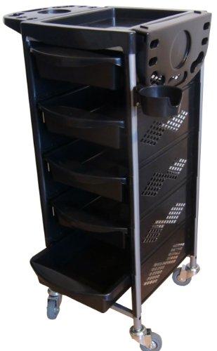figaro-rollbarer-beistellwagen-rack-boy-mit-kunststoffwannen-und-fohnhalter-farbe-schwarz
