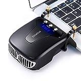 ISENPENK Laptop Kühler Lüfter, PC Cooler für Spielekonsole Laptop PC, Vakuumkühler Sauglüfter USB Laptopkühler mit LCD Display, 13 einstellbare Geschwindigkeiten, Cool Universaler Kühler