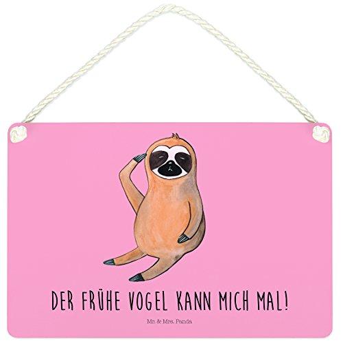 Mr. & Mrs. Panda Deko Schild Faultier Vogel zeigen – 100% handmade in Norddeutschland – der frühe Vogel, Frühaufsteher, faul, Lieblingstier, Morgenmuffel, Faultier, Dekoschild, Spinner, Schild, , Faultiere, Wanddeko