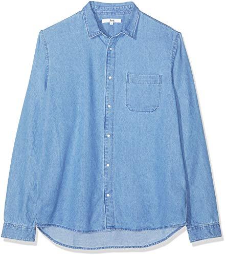 Find. camicia in chambray leggero uomo, blu (light wash), small