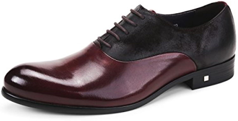 GRRONG Vestimenta Formal Zapatos De Cuero De Los Hombres De Negocios De Ocio