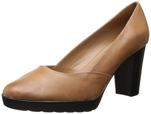 Bella Vita Women's Zari Platform Pump,Camel Leather,8 W US -