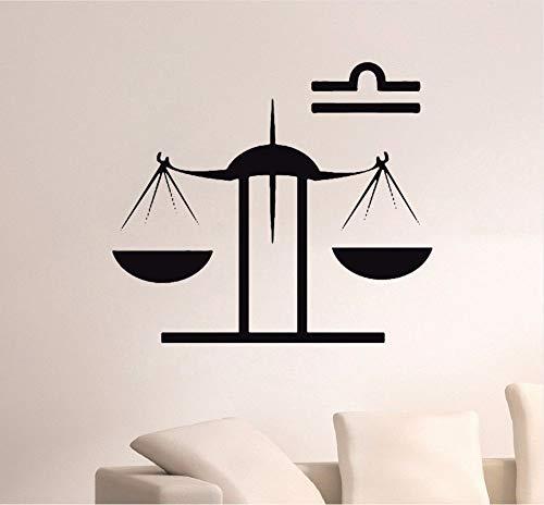 Lwfxc bilancia simbolo segno zodiacale decalcomania del vinile adesivo da parete horocope bambini camera da letto decorazione smontabile della parete decalcomanie arte murale decor 64x56cm