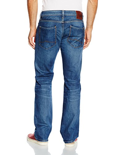 Mustang Michigan Straight, Jeans Homme, Heritage Flat Optic Stretch Denim Dark Rinse Bleu (light scratched used 583)