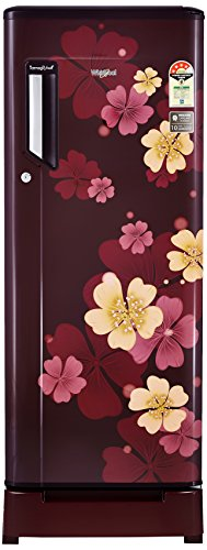 Whirlpool 215L 4 Star Direct Cool Single Door Refrigerator (230 IMFresh Roy 4S, Wine Iris, Base Stand with Drawer)