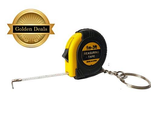 yellow-black-1-meter-3-feet-measuring-tool-mini-tape-measure-w-key-ring-keychain
