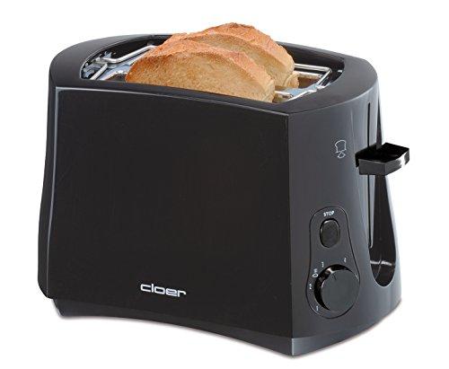 Cloer 3310 Cool-Wall-Toaster/825 W/für 2 Toastscheiben/integrierter...