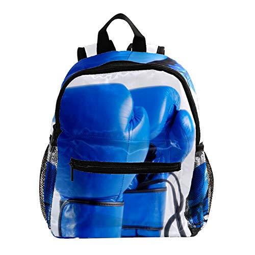 Guantes Boxeo Azules Mochila niños Mochila Escolar