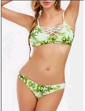 Moderno y cómodo bikini _ moderno y cómodo bikini de dos piezas traje de baño sello dividido, como se muestra...