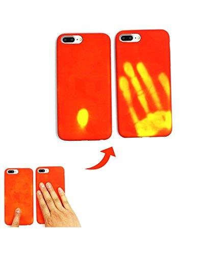 iPhone 7 Plus Hülle(5.5 Inch),venter®Magische Mode Farbe ändern thermischen Sensor Fluoreszierende thermische Wärme Induktion Matte harte PC zurück Hülle Red