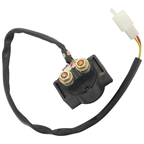 elektro mokick Xfight-Parts Starterrelais mit Kabel 2+2-polig 12V 150A 2Takt 50ccm YY50QT-28 Motowell Magnet