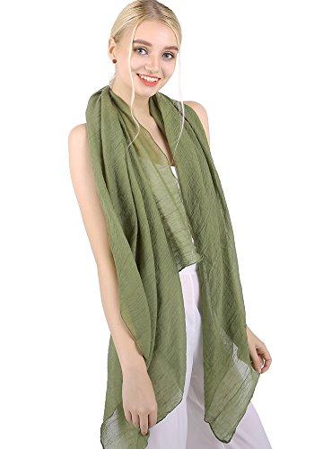 Sciarpa/pashmina tinta unita per donne, scialle oversize dark green taglia unica