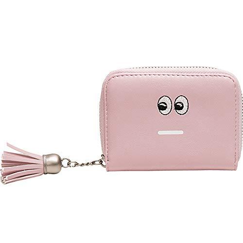 SuperSU Vielfalt Damenbörse Reißverschluss mit Quasten Interessant Kurz Brieftasche Multi-Card-Bit Lovely Comic-Muster Geldbörse Handtasche,Hipster Geldbeutel Klein Portemonnaie