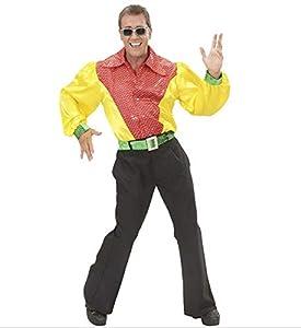 WIDMANN Camisa 3 Colores con Lentejuelas holográficas Adulto Carnaval