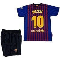 Barcelona Conjunto Camiseta y Pantalon 1ª Equipación 2018-2019 Réplica Oficial Licenciado -