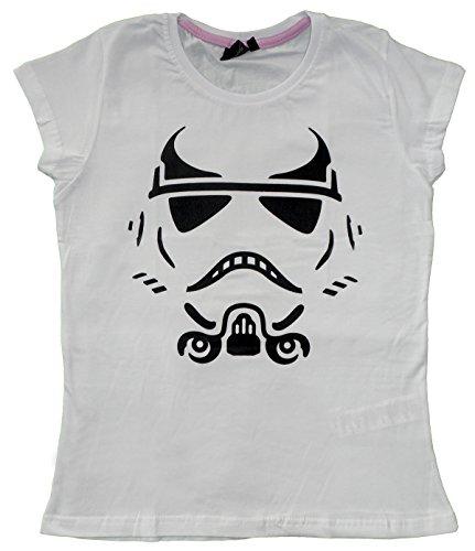 Star Wars Stormtrooper Frauen Damen Mädchen T-Shirt Top Weiß