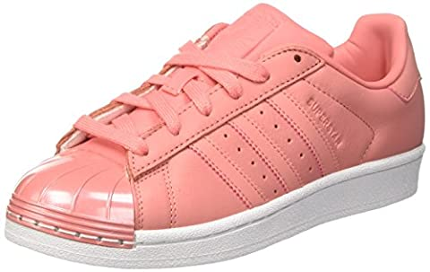 adidas Superstar 80S Metal Toe, Baskets Basses Femme, Rose (Tactile Rose/Tactile Rose/Footwear White), 36 2/3 EU