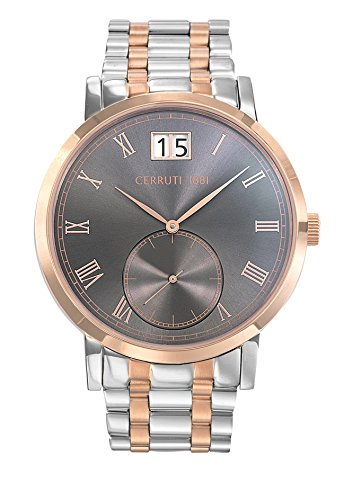 cra157str13mrt – Man – Cerruti 1881 – Riomaggiore – MF Two-Tone Steel PVD Rose Gold Steel Bracelet Watch