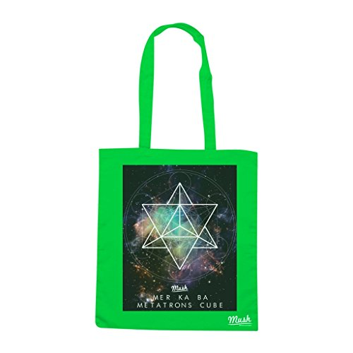 Borsa MER KA BA METATRONS CUBE - Verde prato - MUSH by Mush Dress Your Style