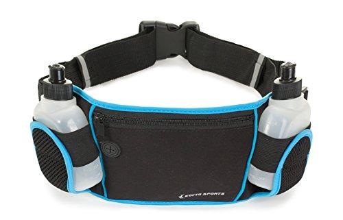 Cinturón ajustable para correr, con 2 botellas BPA gratis, y salida p