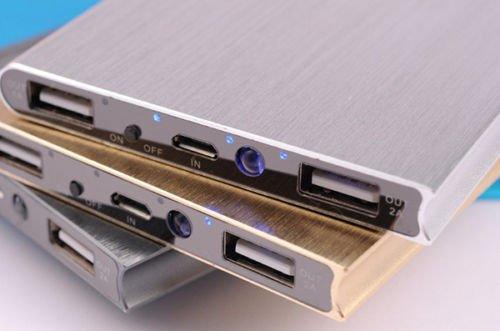Azul -- Paquete de 50000mAH Banco de Poder Externo Portátil USB Cargador de batería Funda para teléfono Slim