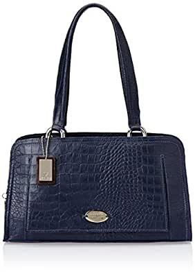 Hidesign Leather Medium Blue Handbag (ORSAY 03)