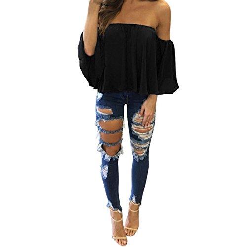 internet-women-summer-chiffon-t-shirt-tops-off-shoulder-casual-blouse-l-black