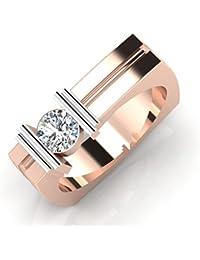 IskiUski The Roger Gold Ring 18Kt Swarovski Crystal Rose Gold Ring Rose Gold Plated For Women