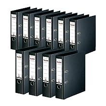 Original Falken Chromocolor Premium Folder Made in Germany Plastic Cover Outer 10 Pack 10er Pack breit Black