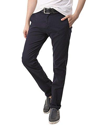 SOIXANTE -  Pantaloni  - Basic - Uomo bleu foncé