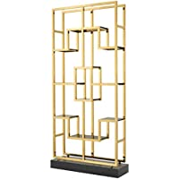 Comparador de precios Casa-Padrino Luxury Living Room Shelf Cabinet Gold/Black 108 x 29 x H. 240 cm - Luxury Furniture - precios baratos