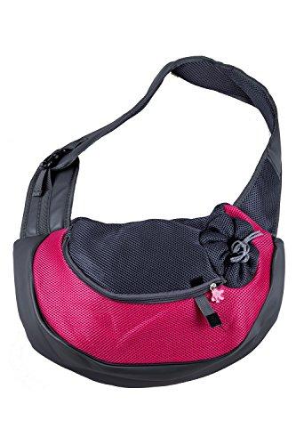 Toogoo(r) cucciolo del gatto del cane di animale domestico trasporta il sacchetto di spalla del sacchetto di spalla del sacchetto di spalla del tote di viaggio rosa rossa s