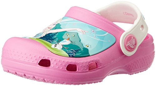 Crocs cc frozen fever clog g sandali a punta chiusa, bambine e ragazze, rosa (ppoy), 33/34