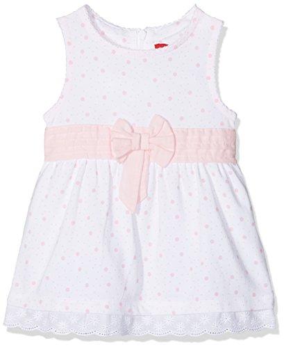 s.Oliver Baby-Mädchen Kleid 59.805.82.2900, Weiß (White AOP 01b0), 68