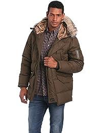 Schott NYC Men's Snork Quilted Parka Long Sleeve Coat