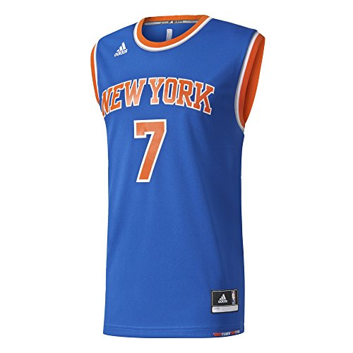 adidas INT Replica JRSY Maglietta da basket New York Knicks per Uomo, Blu (Nba New York Knicks 5 - 3Kb), XL