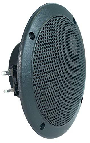 Visaton wasserdichter Lautsprecher IP65 weiß oder schwarz - Größe wählbar, Außen-Ø:180mm, Farbe:schwarz