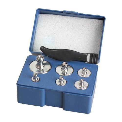 Kalibriergewichte - TOOGOO(R)6pcs 100g 50g 20g 10g 5g bewegliche hohe Genauigkeit Mini Digital Schmuck Diamant Gewicht wiegende Skala Gewichtsstein + Pinzette