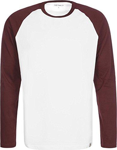 carhartt-dodgers-t-shirt-manches-longues-l-white-bordeaux