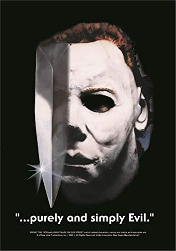 HALLOWEEN FLAGGE FAHNE MICHAEL MYERS PURELY & SIMPLY EVIL (Film-nacht Poster Halloween)
