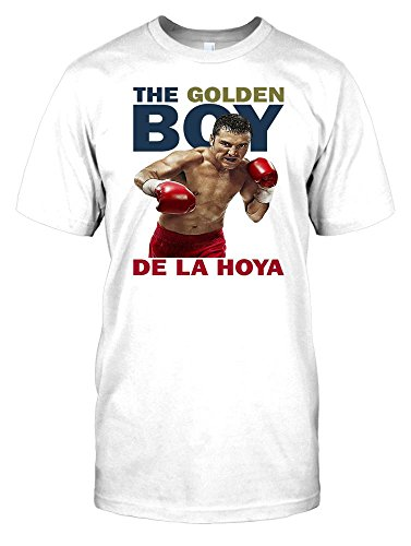The Golden Boy - Oscar De La Hoya - Boxing Mens T Shirt - white - Men 42-44