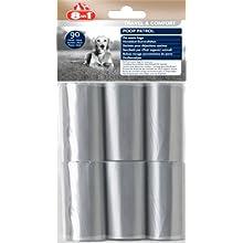 8in1 Poop Patrol Ersatzbeutel (für PoopPatrol-Spender, Hundekotbeutel) 1 Paket mit 6 Rollen (6 x 15 Tüten)