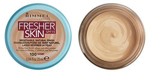 Rimmel London Fresher Skin Foundation, 100 Ivory, 25 ml