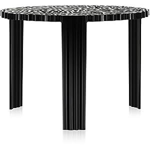 Kartell 8501/NE T-Table Side Table Tavolino, Nero